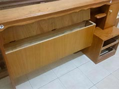 cama de madera roble