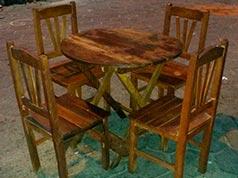 juego de mesa madera tajibo.