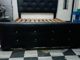 Cama nueva completa capitone 3 plazas sin colchon