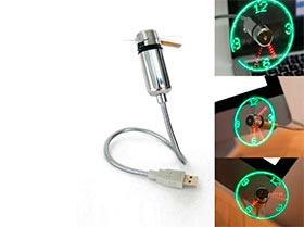 Novedosos Reloj Ventilador LED