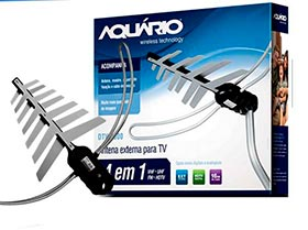 Antena externa para Tv LED/LCD/PLASMA VHF,FM, UHF y HDTV