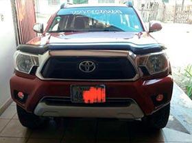 camioneta  toyota tacoma mod 2014