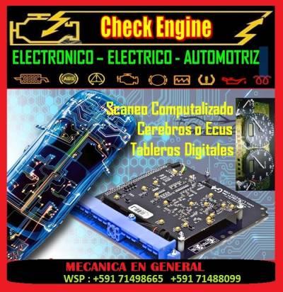 ELECTROMECANICO CHECK ENGINE ELECTRONICO AUTOMOTRIZ