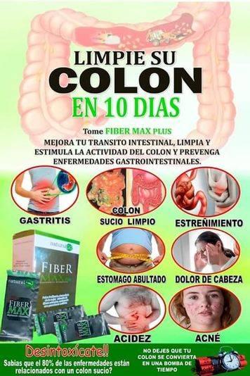Productos naturales  para limpieza del colon