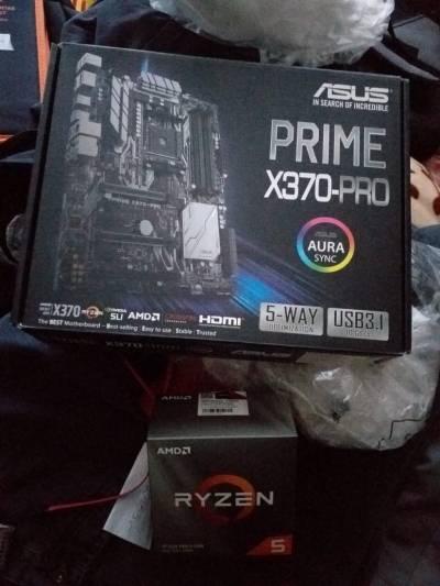 Placa Asus prime x370pro y Procesador Ryzer 5 3600