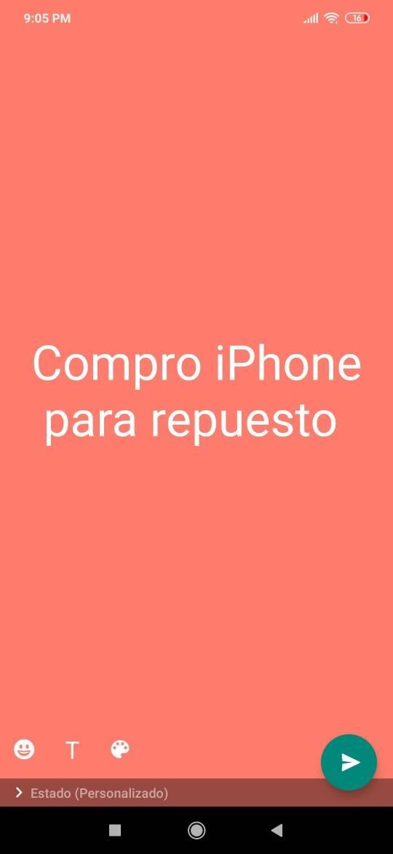 compro iPhone para repuesto