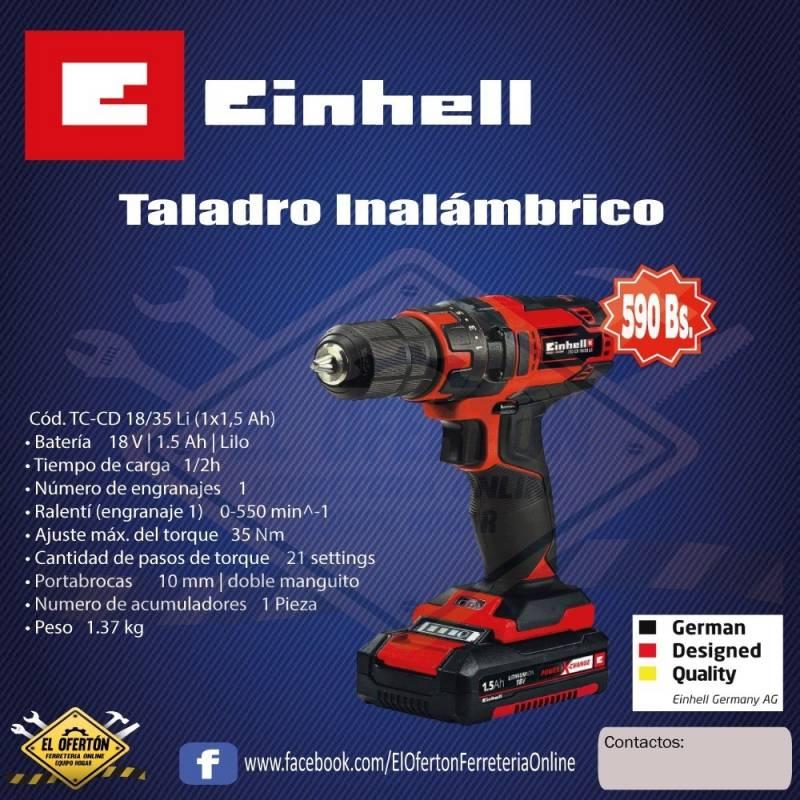 Taladro Inalámbrico Einhell