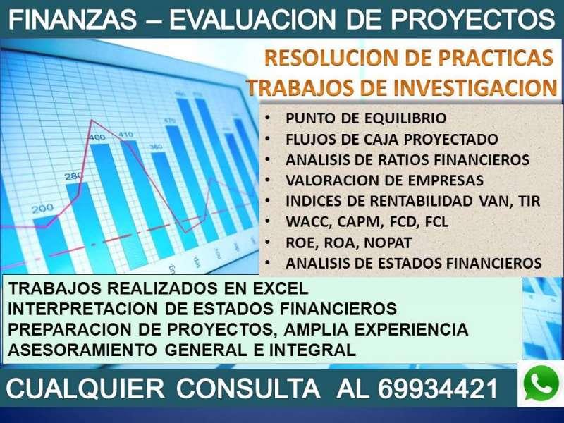 FINANZAS – EVALUACION DE PROYECTOS - PRÁCTICAS