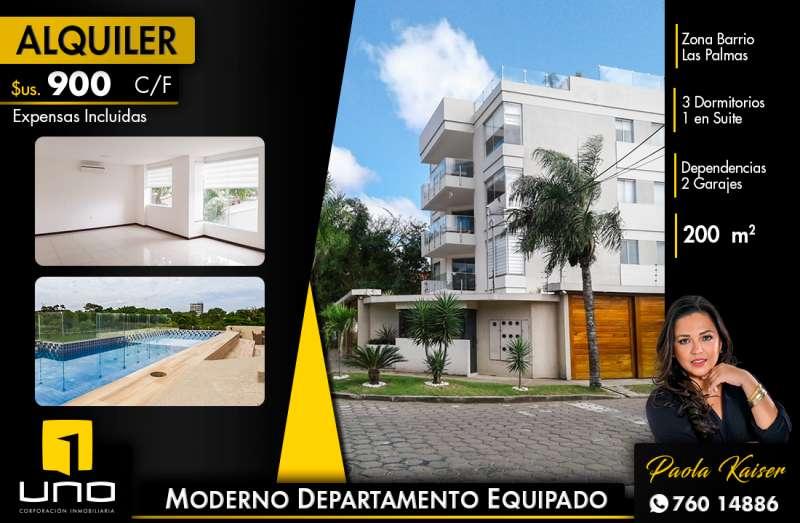 Moderno departamento en alquiler Barrio Las Palmas